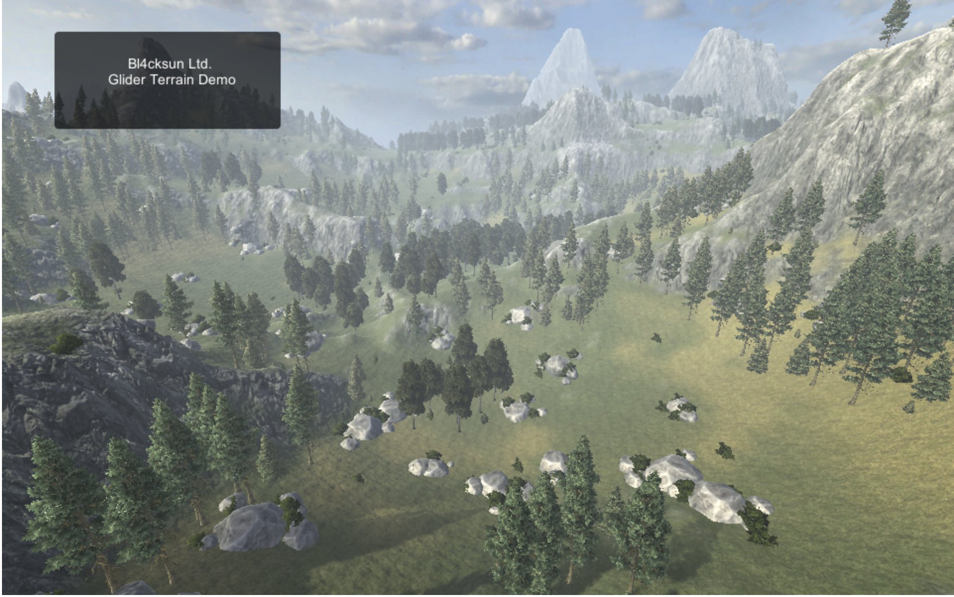 Virtual Gliding Game – Massive terrain support
